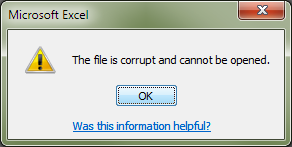 Corrupted File Warning
