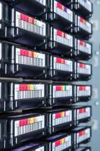 Microfilm compactly stores thousands of documents worth of data.